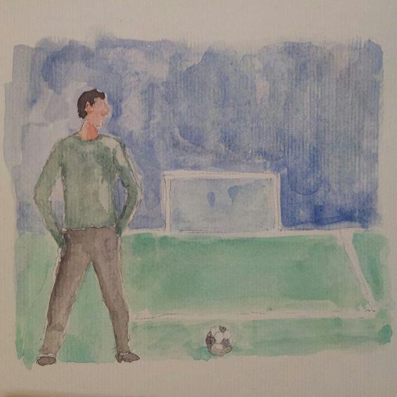 Allenatore del pallone. Football coach #watercolor #watercolour #acquerello #artwork #watercolours #mywatercolors #mywatercolor #acquerelli