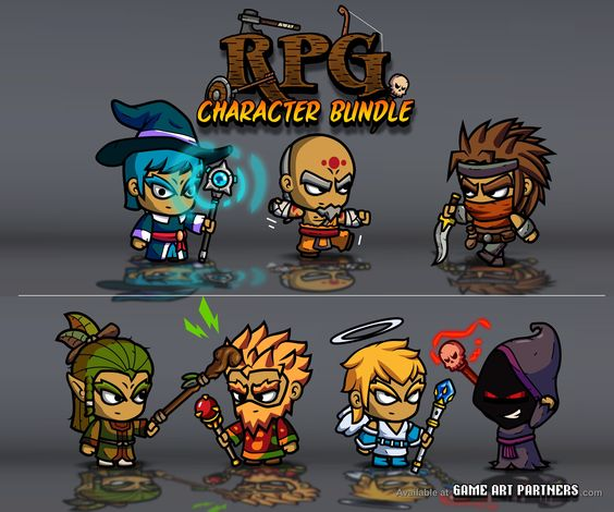 2d Character Design Software Free Download : Royalty free d game sprites art from http
