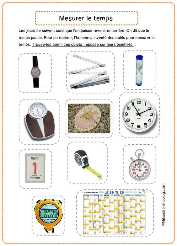 instruments de mesure du temps exercice mitsouko au cp articles pinterest instruments. Black Bedroom Furniture Sets. Home Design Ideas