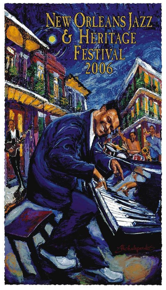 What's your favorite New Orleans Jazz Fest poster? Here ...