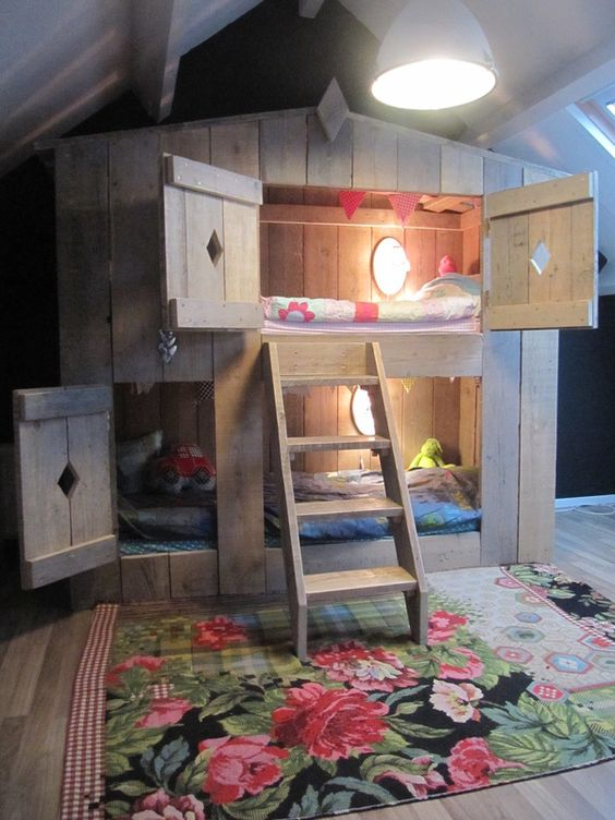 One of the many benefits of being with a woodworker our for Cute bunk bed rooms