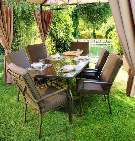 Para inaugurar nuestros muebles de jardin os dejamos con - Conjunto jardin aki ...