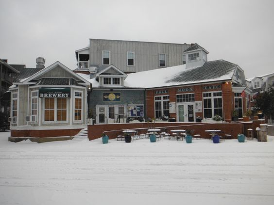 Full Moon Cafe and Brewery in Manteo covered in snow. :: January 29, 2014 :: #snOBX