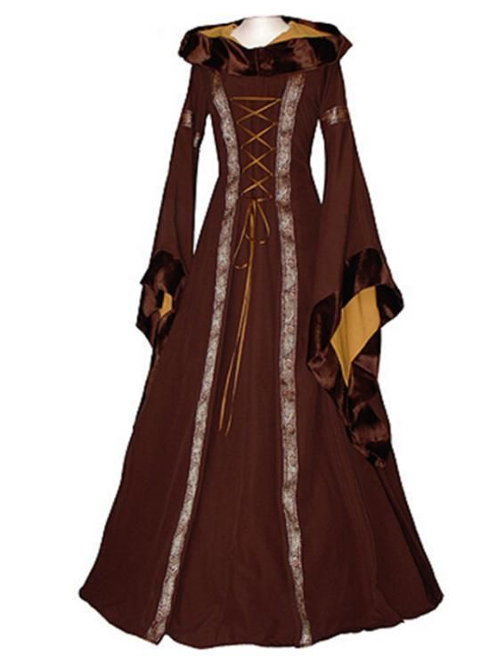 Game Of Thrones Gothic Dress Womens Medieval Renaissance Vintage Hooded Costume