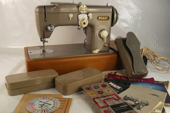 PFAFF 230 AUTOMATIC Industrial Sewing Machine, Pedal, Manuals, Feet etc SERVICED