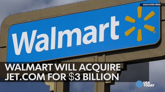 Story: Walmart Buys Jet.com For $3.3B Cash to Fight Amazon - by Mina Fabulous - Comfirmed! Walmart Buys Jet.com On a mission to boost its e-commerce operations, Walmart has officially acquired Jet.com for $3 billion cash.  Walmart CEO Doug McMillon said in a statement that the acquisition is a smart move for Walmart's rapid ascent in the world of digital... #LatestBusiness