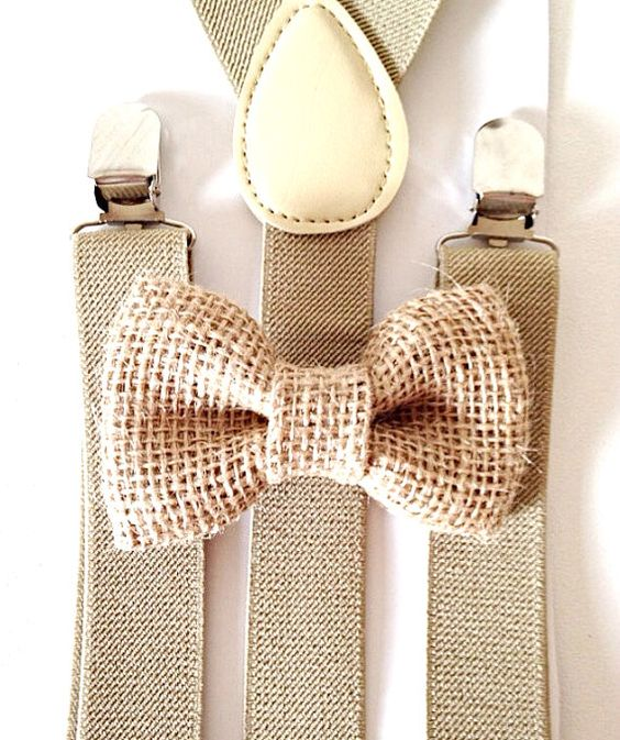 Hey, j'ai trouvé ce super article sur Etsy, chez https://www.etsy.com/fr/listing/182461694/tan-khaki-suspenders-burlap-bow-tie-kids