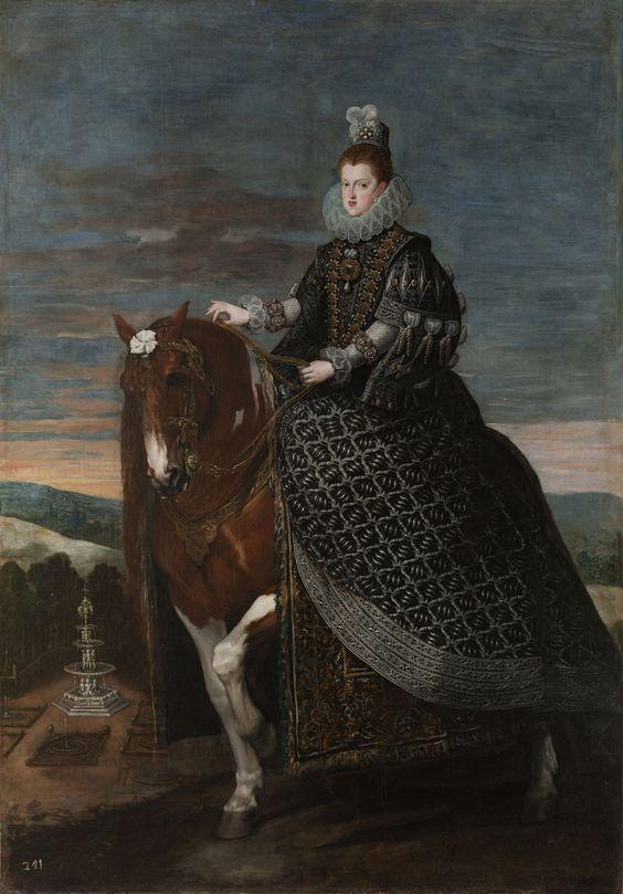 Rodríguez de Silva Velázquez (1599-1660) — La reina Margarita de Austria,  c.1635  (123x1406)