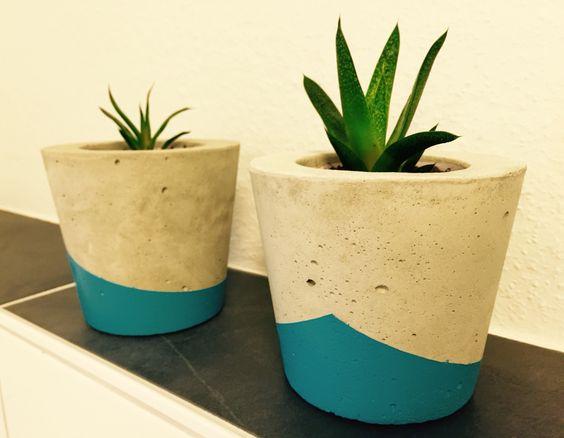 DIY Blumentöpfe aus Beton / planters