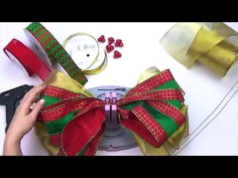 Bow Genius Christmas Tree Topper With Small Bows Diy Christmas Tree Bow Youtube Christmas Tree Bows Diy Christmas Tree Topper Diy Christmas Tree