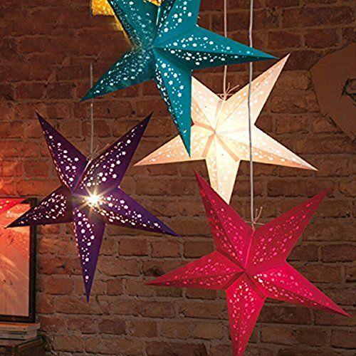 Uuouu Paper Star Lantern Lampshade 12 Inch Handmade Christmas