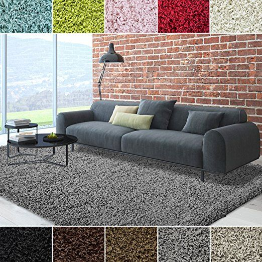 Icustomrug Cozy Soft And Plush Pile 10ft0in X 12ft0in 10x12 Shag Area Rug In Charcoal Dark Grey Rugs In Living Room Shag Area Rug Room Rugs