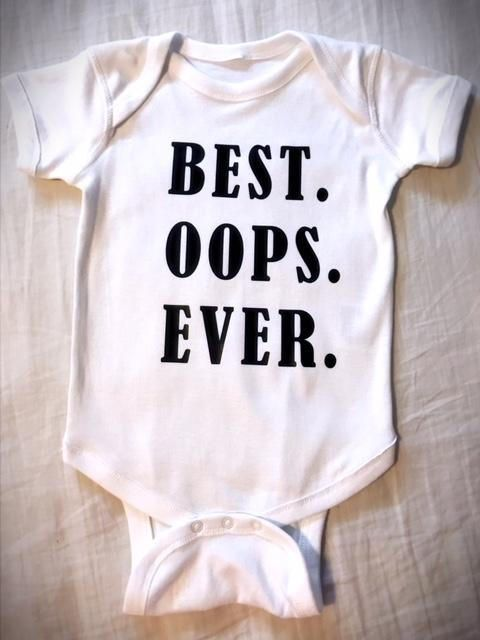 Funny Baby one-piece  Infant Long Sleeve Bodysuit Cute Baby Shower Gift Best Oops Ever SALE TODAY