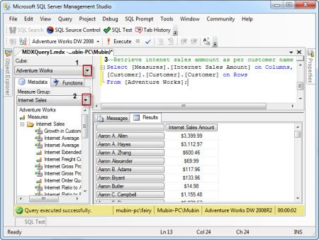A Quick Way to Start Learning SQL Server MDX - MSSQLTips