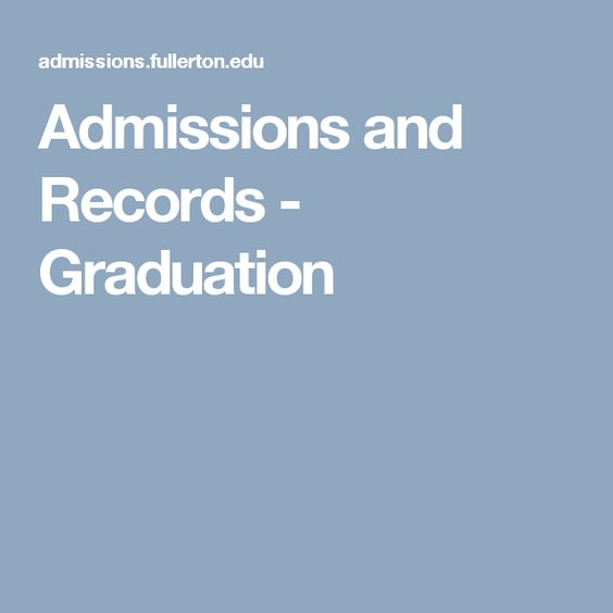 Admissions and Records - Graduation