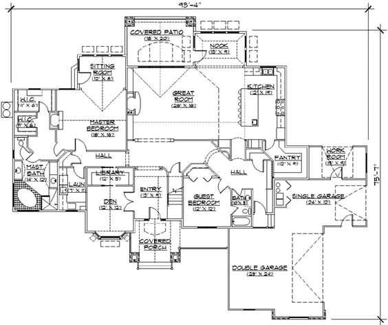 Luxury floor plans house plans and home on pinterest for Luxury garage plans