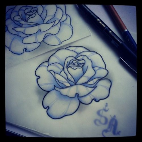 Neo traditional, Traditional rose tattoos and Rose ...