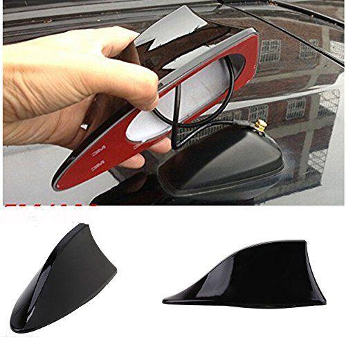 1x Universal Car Shark Fin Roof Antenna Radio FM//AM Decorate Aerial Black