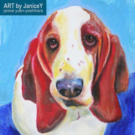 He encontrado este interesante anuncio de Etsy en https://www.etsy.com/es/listing/199348021/basset-hound-original-oil-painting