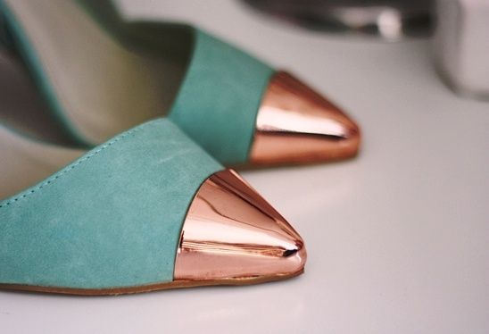 Tiffany blue and rose gold... so perfect