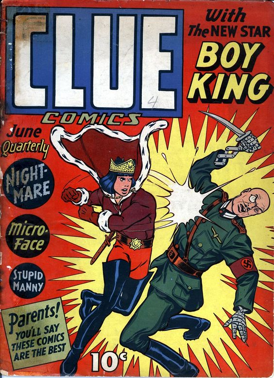Clue Comics N°4 (June 1943) - Cover by Dan Barry