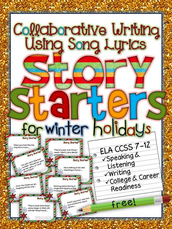 Collaborative Classroom Writing ~ Colleges story starters and winter on pinterest