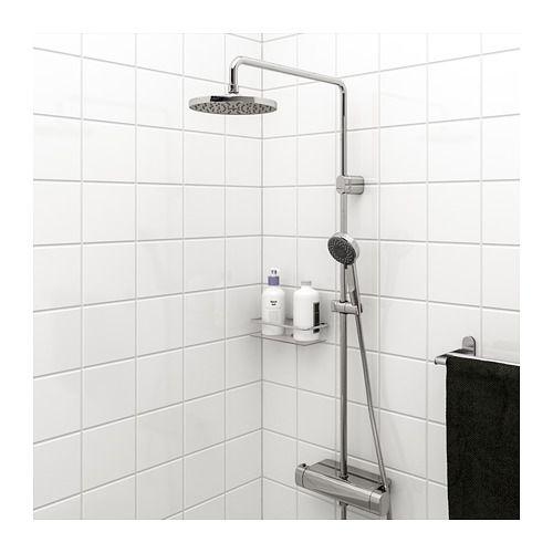 Brogrund Brusebadssaet Med Termostatarmatur Forkromet Ikea Shampooflessen Badkamer Utrecht Douchekoppen