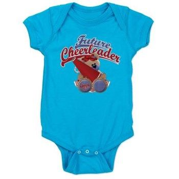 Future Cheerleader Baby Bodysuit $21.99 - This design also available on a wide selection of clothing and t-shirt styles, colors and sizes for men, women, teens, kids and baby, as well as, other fun merchandise.