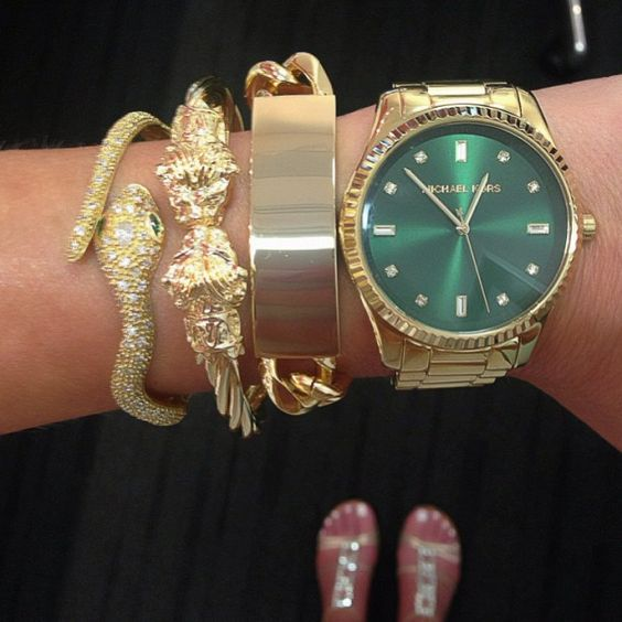 Love my new Michael Kors watch and SL Designs #bracelets!