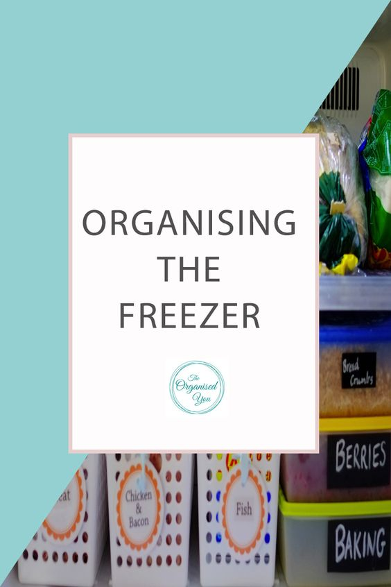 Organising the freezer - an organised freezer can save you so much time and money bif you use it effectively. You can store leftovers, extra meat supplies, breadcrumbs, frozen fruit and vegetables as well as bread and pastry if your freezer is properly organised and uses great storage solutions. Click through to read the full post on how I organised our freezer!