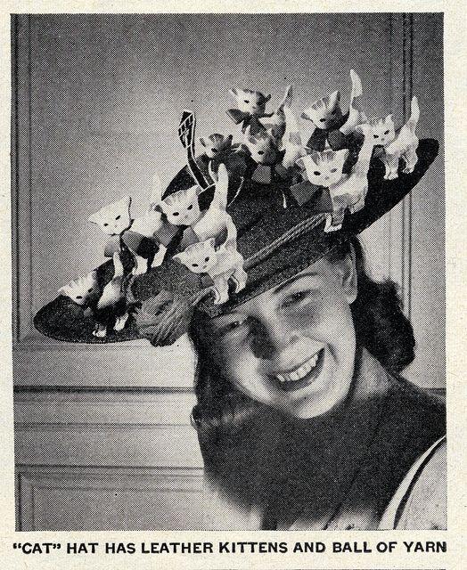 """""""Cat"""" Hat, Life magazine, Jul 16, 1945."""