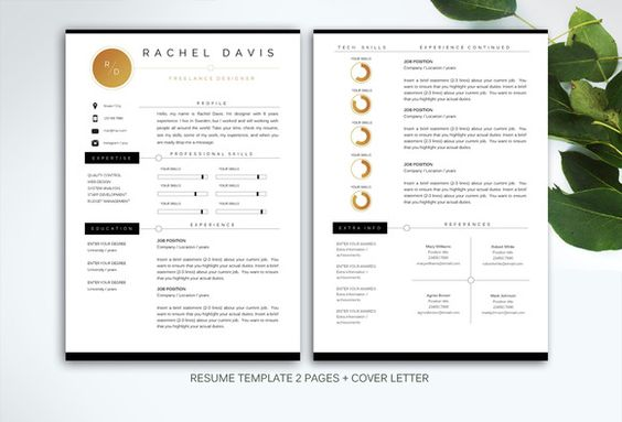 Resume template for MS Word by Fortunelle Resumes on Creative - creative resume objectives