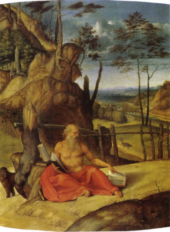 Lorenzo Lotto - Saint Jerome in the Wilderness, 1509