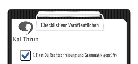 Bloggen: 7 Punkte, die Du vor dem Veröffentlichen checken solltest - Mehr Infos zum Thema auch unter http://vslink.de/internetmarketing