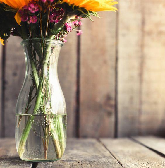 weck jars make the best vases.