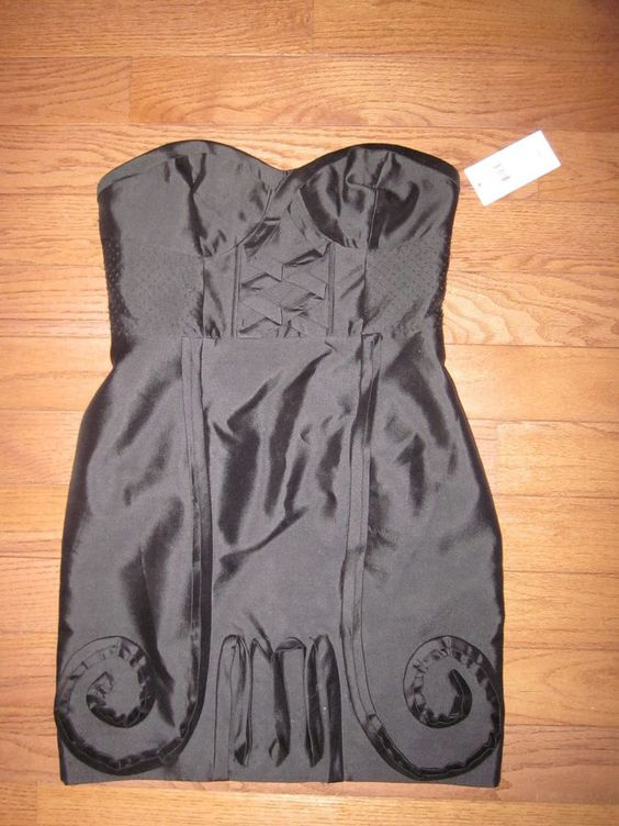 NEW Leifsdottir Black Corset Strapless Dress 8 NWT $398 in Clothing, Shoes & Accessories | eBay