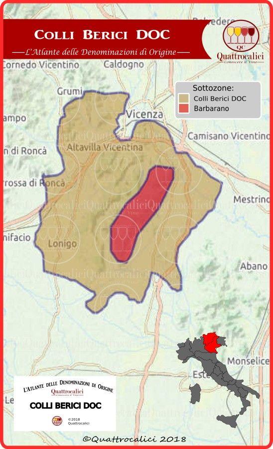 Monti Berici Cartina Italia.Colli Berici Doc Quattrocalici Vino Italiano Vino Colli