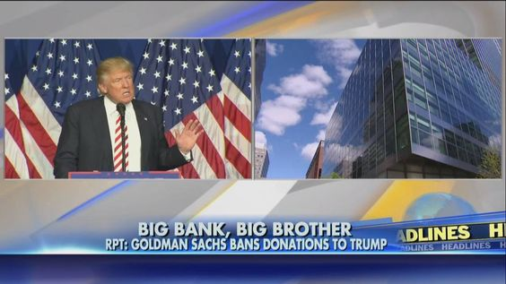 Goldman Sachs has reportedly banned partners at its firm from donating to Donald J. Trump. Donations to Hillary Clinton are still allowed.