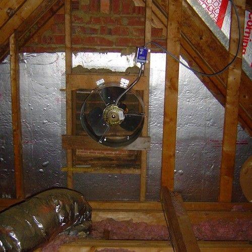 The 1 Reason Power Attic Ventilators Don T Help Attic Exhaust Fan Attic Ventilation Attic Vents