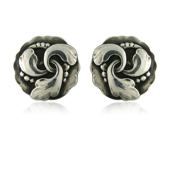 Earrings | George Jensen.  Sterling Silver