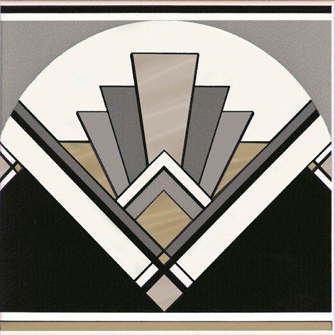 Art Deco fan tile  #RePin by AT Social Media Marketing - Pinterest Marketing Specialists ATSocialMedia.co.uk
