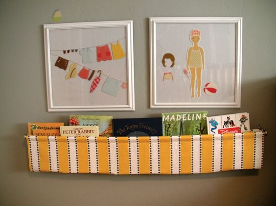 DIY fabric bookholder