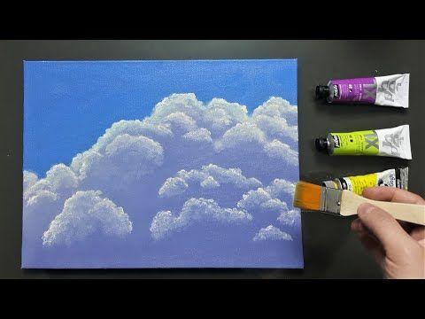 Yagli Boya Bulut Nasil Yapilir Youtube 2020 Bulutlar Resim Resim Sanati