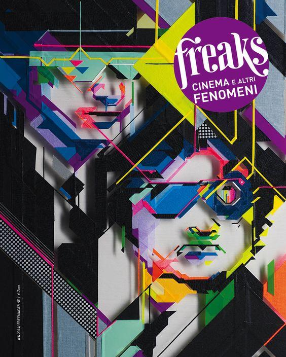 cover FREAKS, Cinema e altri fenomeni. #Blues Brothers, #type art, #NoCurves, #design.