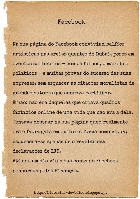 Facebook Outras histórias em http://historias-de-bolso.blogspot.pt  #Facebook #Histórias #Redessociais