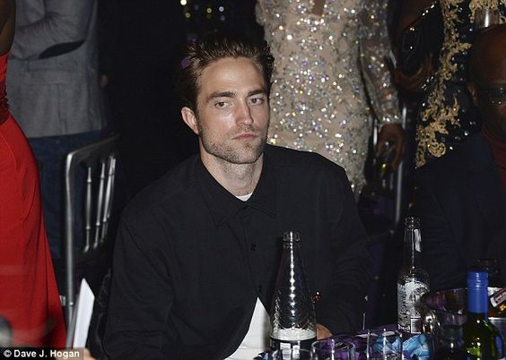 Supportive: Robert Pattinson was on hand to support his girlfriend at the awards ceremony...