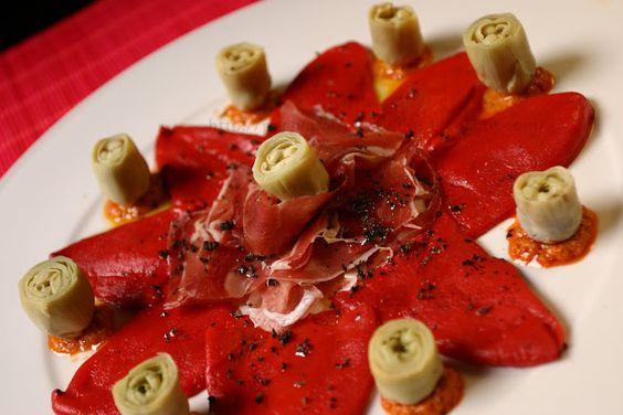 ¡¡Oído cocina!!: Pimientos del piquillo con jamón y alcachofas baby...