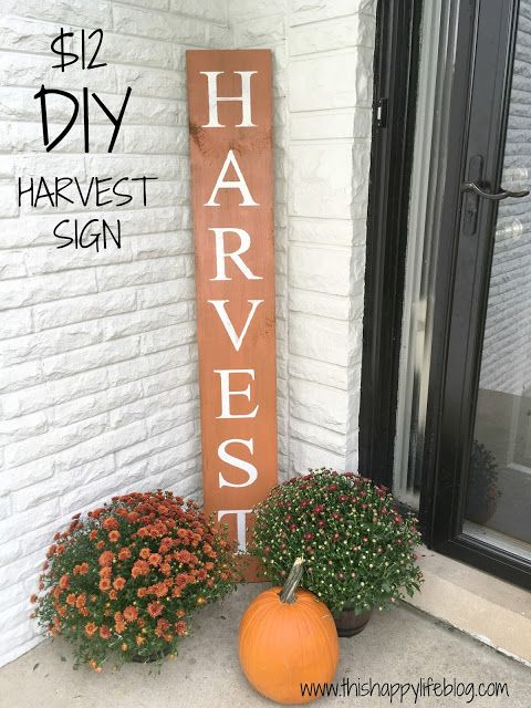 $12 Harvest DIY Sign