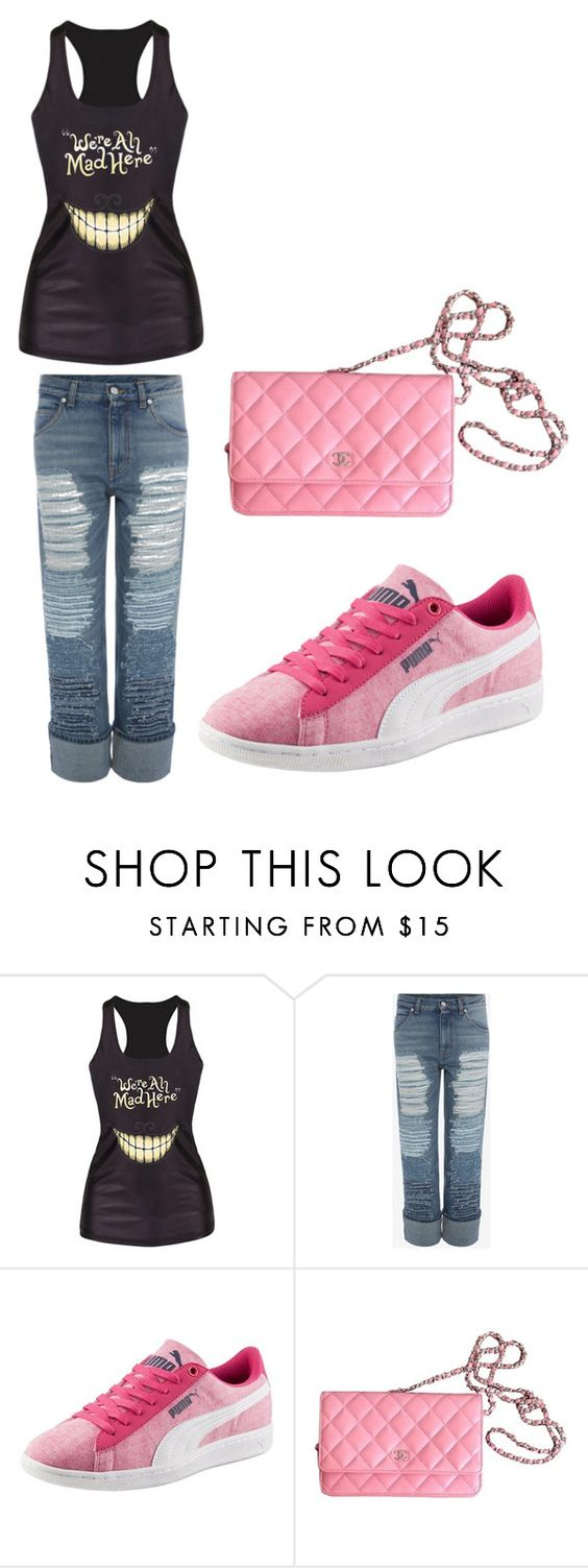 """Untitled #261"" by arijana-cehic ❤ liked on Polyvore featuring Alexander McQueen, Puma and Chanel"