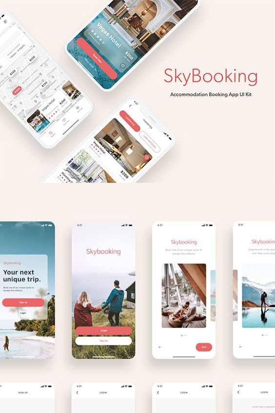 Hotel Booking Is Easily Understood On This Clean And Simple App